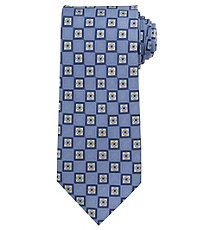 Executive Neat Floral Squares Long Tie