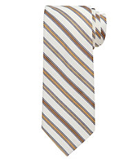 Joseph Tonal Stripes on White Ground Tie