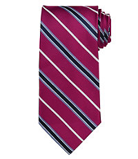 Signature Satin Stripe Extra Long Tie