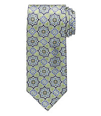 Signature Gold Connected Medallions Extra Long Tie