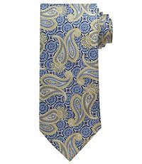 Signature Gold Paisley Medallion Extra Long Tie.