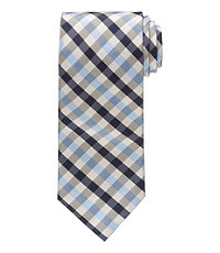 Executive Plaid Long Tie