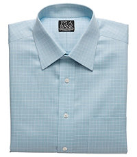 Signature Spread Collar/French Cuff Patterned Dress Shirt Big or Tall