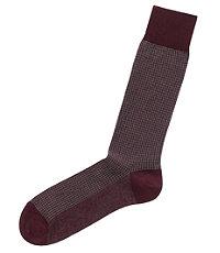 Houndstooth Mid-Calf Socks