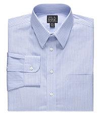 Traveler Tailored Fit Point Collar Variegated Stripe Dress Shirt