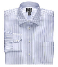 Signature Spread Collar Barrel Cuff Tailored Fit Stripe Dress Shirt