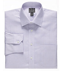 Signature Spread Collar Barrel Cuff Tailored Fit Tweed Dress Shirt