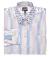 Traveler Buttondown Pattern Point Collar Dress Shirt