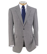 Executive 2-Button Wool Suit with Pleated Trousers