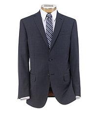 Joseph Slim Fit 2 Button Plain Front Wool Suit- Blue Stripe