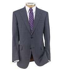 Joseph 2 Button Tailored Fit Suit with Plain Front  Trousers Extended Sizes