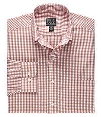 Traveler Long Sleeve Patterned Cotton Buttondown Sportshirt
