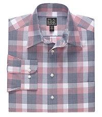 Traveler Long Sleeve Patterned Cotton Point Collar SportShirt.