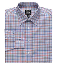 Traveler Long Sleeve Patterned Cotton Point Collar SportShirt.