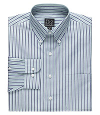 Traveler Tailored Fit Long-Sleeve Point Collar Sport Shirt.