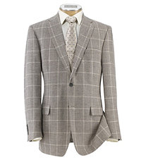 Signature 2-Button Tailored Fit Patterned Sportcoat Extended Sizes