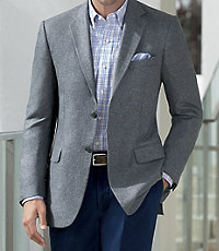 Signature 2-Button Tailored Fit Silk Sportcoat