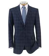 Signature 2-Button Wool/Silk Patterned Sportcoat