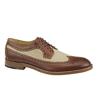 Clayton Linen Wing Tip Shoe by Johnston and Murphy