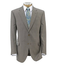 Signature Imperial Wool/Silk Suit with Plain Front Trousers- Light Taupe