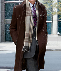 Merino Wool Topcoat Three-Quarter Length