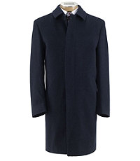 Heathered Merino Wool Topcoat Extended Sizes