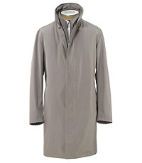 Traveler Double Collar 3/4 Length Raincoat