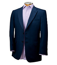 Signature 2-Button Herringbone Imperial Blend Sportcoat Extended Sizes
