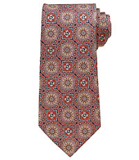 Signature Gold Large Medallion Tie