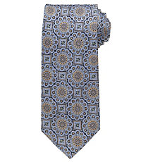 Signature Gold Large Medallion Extra Long Tie