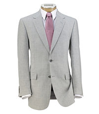 Tropical Blend 2-Button Linen/Wool Sportcoat Extended Sizes.