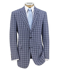 Madras 2 Button Sportcoat Extended Sizes.