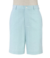 Stays Cool Cotton Plain Tailored Fit Oxford Shorts
