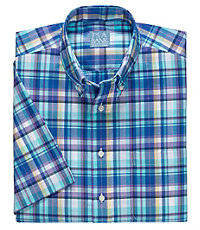 Stays Cool Short Sleeve Madras Sportshirt