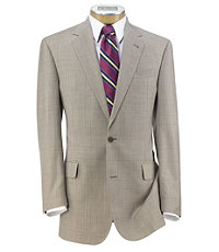 Signature Gold 2-Button 150's Wool Pleated Suit Extended Sizes