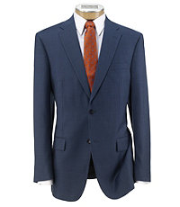 Traveler Tailored Fit 2-Button Suit with Plain Front Trousers- Bright Blue Sharksin