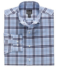 Traveler Tailored Fit Long-Sleeve Button Down Collar Sportshirt
