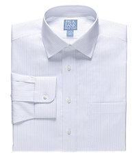 Stays Cool Spread Collar Narrow Stripe Dress Shirt