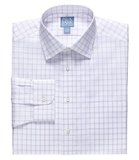 Stays Cool Spread Collar Windowpane Dress Shirt