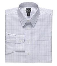 Traveler Tailored Fit Point Collar Glen Plaid Dress Shirt