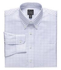 Traveler Tailored Fit Buttondown Collar Grid Dress Shirt