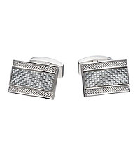 Carbon Fiber Rectangle Cufflinks.