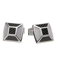 Carbon Fiber Pyramid Cufflinks.
