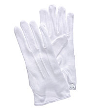Formal White Cotton Gloves