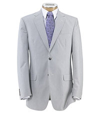 Men's Vintage Style Suits, Classic Suits 2 Button Tailored Fit Wool Mens Suit CLEARANCE by JoS. A. Bank - 41 Long Light Grey $198.00 AT vintagedancer.com