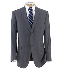 Joseph Slim Fit 2 Button Plain Front Wool Suit- Grey Checkered