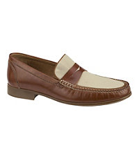Cresswell Linen Penny Shoe by Johnston and Murphy
