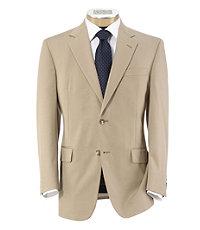 Slim Fit Tropical Blend 2-Button Suit Plain Front Trousers