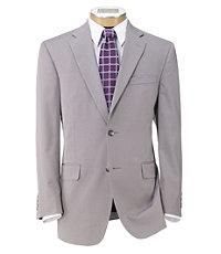 Slim Fit Tropical Blend 2-Button Suit Plain Front Trousers Extended Size
