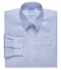 Stays Cool Wrinkle-Free Point Collar Patterned Dress Shirt